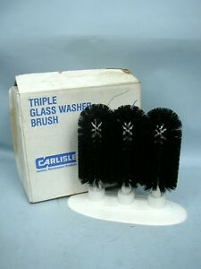 Carlisle Commercial Triple Glass Washer Brush With Box Sparta Brush Series