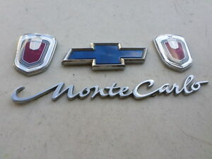 00 05 Chevy Monte Carlo 10402735 Logo Ornament 10289881 Emblem Sticker Trim Set