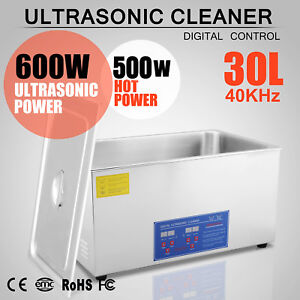 Pro 30 Liter Ultrasonic Cleaners Cleaning Equipment Industrial W Timer Heater