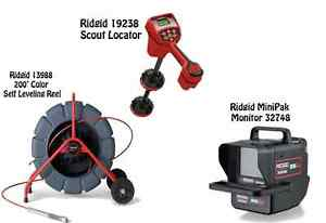 Ridgid 200 Color Sl Reel 13988 Navitrack Scout Locator 19238 Minipak 57143