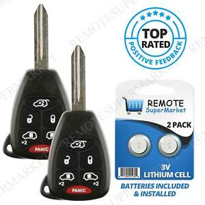 Replacement For 04 07 Chrysler Town Country Dodge Caravan Remote Key Fob 6b Pair