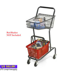 New Mini Retail Store Shopping Cart Red Basket Not Included Wholesale