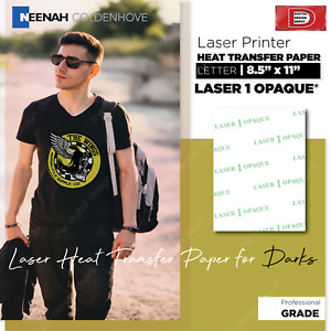 Laser 1 Opaque Heat Transfer Paper Dark Colors 100 Sheets 8 5 X 11