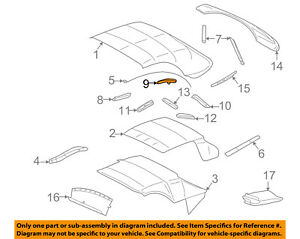 Ford Oem Thunderbird Convertible soft Top weatherstrip Seal Right 1w6z7651564ad