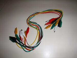 10 Piece Test Leads Alligator Roach Clip Jumper Wire 32