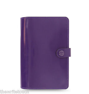 The Filofax Original Organizer Personal Purple Leather Any Year Diary