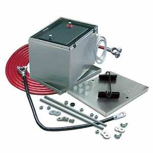 Battery Box Aluminum With Hold Down Components 16 of 2 Guage Battery Cable Kit