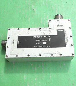1pcs Used Good Harmonic 14 10 2 18ghz N Mixer c1in