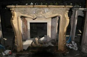 French Rococo Fireplace Marble Mantel French Design 1028