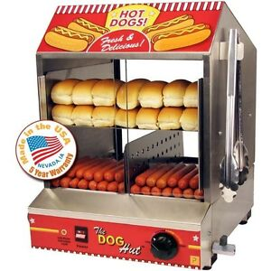 Commercial Hot Dog Steamer Cooker Countertop Hotdog Concession Warmer