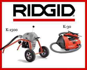 Ridgid Auto clean K 30 Sink Machine 55808 Ridgid K1500 Sectional Machine 23707