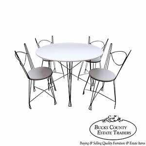 Iron Prairie School 5 Piece Bistro Parlor Dining Set A