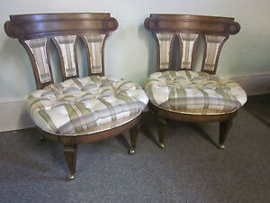 Mastercraft Pair Of Hollywood Regency Slipper Lounge Chairs