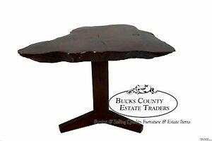 Bucks County Free Form Walnut Slab Coffee End Table