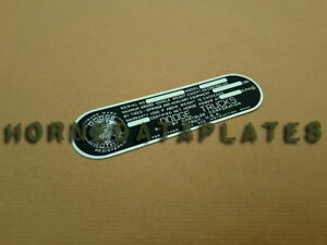 Dodge Trucks Data Plate 1945 1946 1947 1948 Power Wagon Id Tag