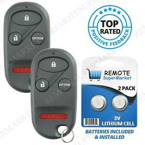 Replacement For Honda 1996 2002 Accord 1996 2000 Civic Remote Car Key Fob Pair