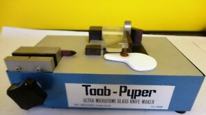 Taab pyper Ultra Microtome Glass Knife maker Reading England Used