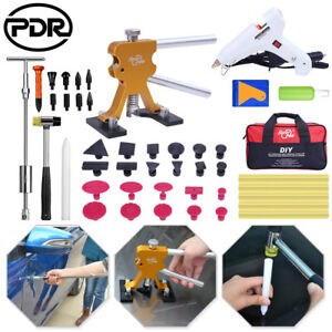 Pdr Tools Dent Lifter Puller Paintless Repair Car Charger Glue Gun Auto Body Kit