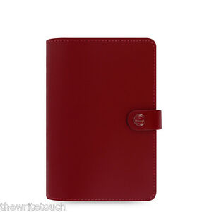 Filofax Original Organizer Personal Pillarbox Red Leather 022380
