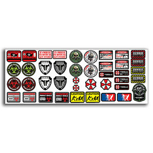 R C Scale Zombie Rc Car Decal Graphic Stickers Sheet 1 10 Truck Crawler Body Oem