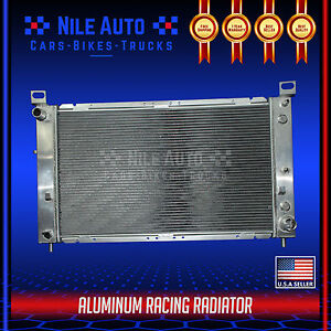 Single Row Aluminum Radiator For 99 07 Gmc Yukon sierra tahoe escalade V8 At