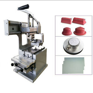 Pad Printing 1 Color Manual Pad Printer With Steel Plate 4 Size Rubber Pads