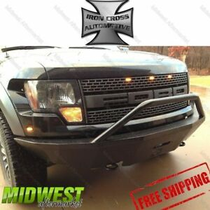 Iron Cross Steel Push Bar Hd Bumper Fits 2009 2014 Ford F150 Raptor