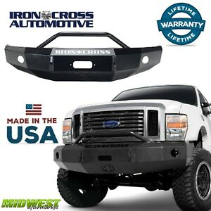 Iron Cross Steel Push Bar Hd Bumper 1999 2004 Ford F250 F350 F450 Super Duty
