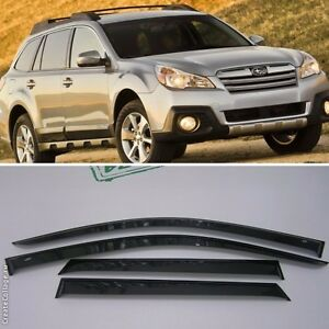 For Subaru Outback 2010 2014 Window Visors Side Sun Rain Guard Vent Deflectors