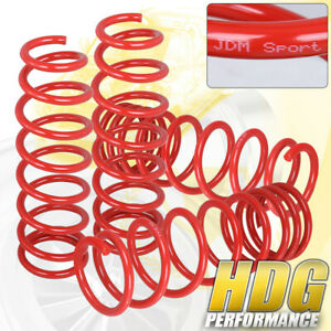 92 00 Eg Ek Civic Lx Dx Ex Jdm Red Adjustable Lowering Spring Sleeve Drop Kit