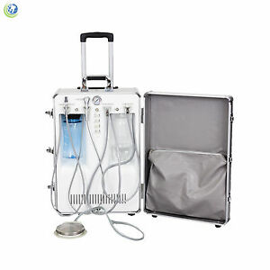 New Dental Portable Delivery Unit Rolling Case Compressor Suction Customizable