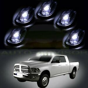 5x Clear Cab Marker Roof Running Light W Free Bulb For 2012 2016 Dodge Ram 3500