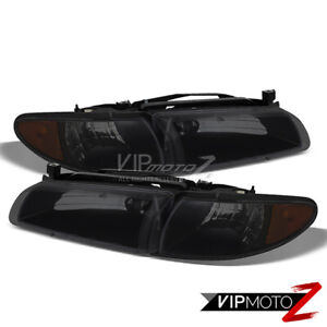 For 97 03 Pontiac Grand Prix Gt Gtp sinister Black Tinted Headlight Right Left