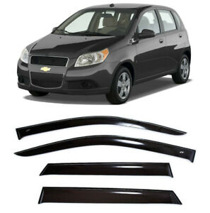 For Chevrolet Aveo Hb 2003 11 Window Visors Side Sun Rain Guard Vent Deflectors