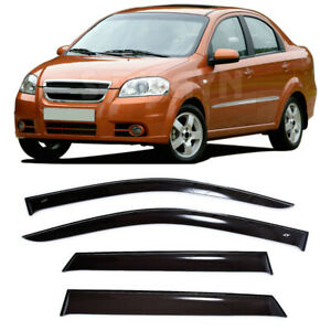 For Chevrolet Aveo Sd 03 10 Window Visors Side Sun Rain Guard Vent Deflectors