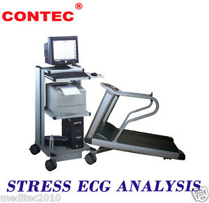 Brand New Wireless Stress Cardiac Ecg Ekg Pc Systems Contec8000s Workstation