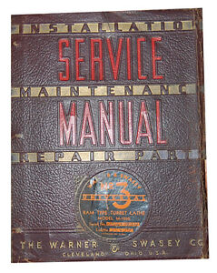 Warner Swasey No 3 Turret Lathe Service Instructions Parts Manual 1941