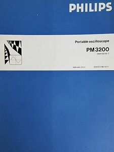 Philips Portable Oscilloscope Pm 3200 Manual