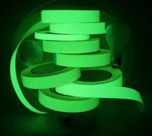 Glow In The Dark Adhesive Strip Vinyl Neon Tape Green Available 25 50 200mm