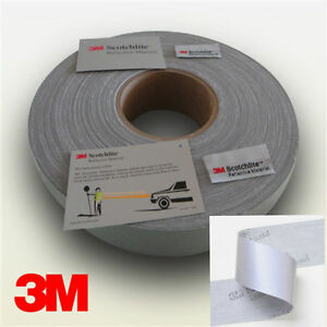 3m Hi Visibility Reflective Sew On Tape Silver 25 50mm Width Please Be Brilliant