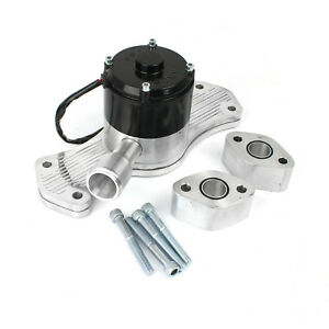 Chevy Bbc 454 40 Gpm Slimline Electric Water Pump Polished