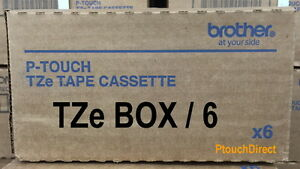 Box 6 Brother Tze 335 White On Black P touch Tape Bulk Tze335 Tz335 Tz 335