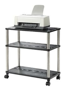 Computer Table Stand Workstation Laptop Printer Cart Rolling Office
