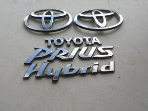 01 04 Toyota Prius Hybrid Emblem 75447 aa020 Logo 75443 47010 Decal Sticker Set