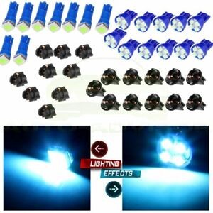 T5 T10 74 194 Ice Blue Led Instrument Cluster Panel Light Kits For Gmc Jimmy