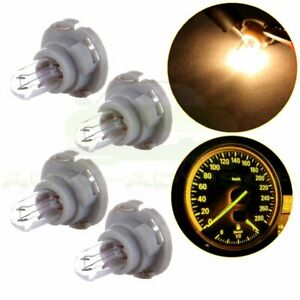4x Warm White T5 Halogen Neo Wedge For Dodge A C Climate Control Light Bulbs 12v
