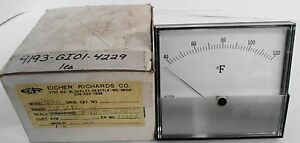 Weston 2041 Eicher Richards Temperature Gauge 40 120 Fahrenheit Fs 1 5vdc