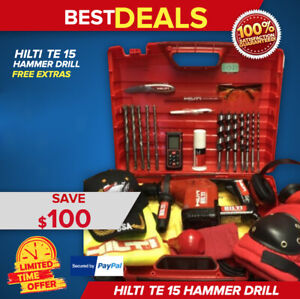 Hilti Te 15 Hammer Drill L k Great Condition Free Extras Fast Shipping