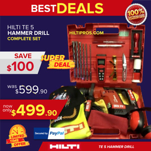 Hilti Te 5 Hammer Drill L k Made In Germany Free Measurer Laser Fast Ship