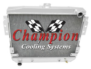 1977 1978 Ford Mustang Ii V8 Champion 3 Row Aluminum Radiator Cc514